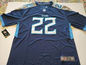 DERRICK HENRY TENNESSEE TITANS NFL DARK BLUE HOME MEN XL JERSEY. STITCHED. NWT