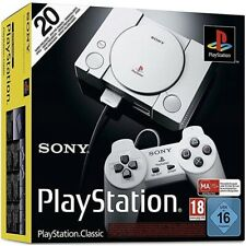 Sony PlayStation Classic Mini Konsole - Gaming-Ikone inkl.2 Controller+20 Spiele