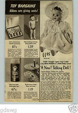 1949 PAPER AD Flashlight Dick Tracy Plastic Doll Swimmer Schilling Talking