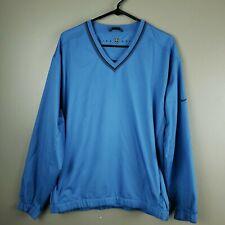 Nike Mens Golf Pullover Windbreaker Jacket Blue Medium V-Neck