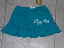 NWT - Crazy 8 teal ruffled elephant skorts - 2T girls