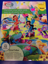 RARE Tinker Bell Disney Fairy Pixie Birthday Party Punch-Out Table Decorations
