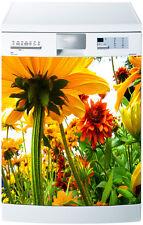 Sticker pour lave vaisselle déco électroménager Fleurs réf 219 60x60cm