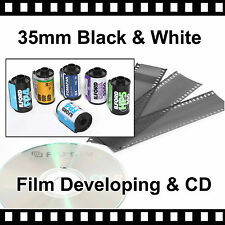 35mm Black & White Film Developing & CD with FREE postage - 4.5mb Per Photo