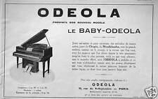 PUBLICITÉ ODEOLA PRÉSENTE SON NOUVEAU MODÈLE LE BABY - ODEOLA