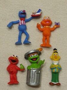 "SESAME STREET VINTAGE APPLAUSE 2""-3"" PVC FIGURES lot, Zoe, Elmo, Oscar, Grover +"