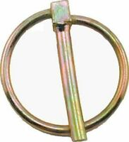 NEW HITCH PIN SPRUNG TRAILER SAFETY LYNCH CLIP YZP 6MM X 47MM DIAMETER ( pk of 5