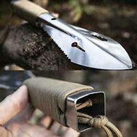 Edelstahl Outdoor Schaufel Spaten Multi Tool Weeder mit P7Q0 Inbusschlüssel L5U0