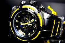Mens Invicta Reserve Bolt Zeus Yellow Black Steel Swiss Chronograph Watch New