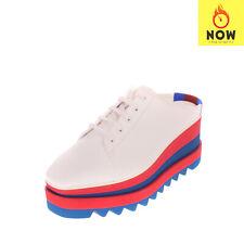 RRP €735 STELLA MCCARTNEY Derby Mule Shoes EU 38 UK 5 US 8 Heel Colour Block
