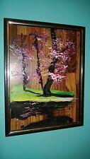 """Morris Katz Original Oil Painting 12"""" x 16"""" Signed 1980 """"TULIP TREE""""?  RARE!"""