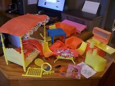 Vintage 70s era Barbie & Misc. brand lot of furniture, and accessories see pics