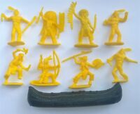 Toy soldiers Indians and cowboys Wild West Twenty one subjects