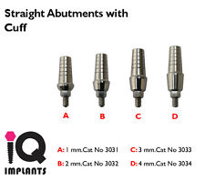 10 Shouldered Tit Abutments With Cuff Dental Implants Implant Lab Prosthetic NEW