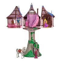 Disney Parks Tangled Princess Rapunzel Tower with Flynn Play Set Playset Maximus