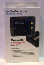 Coaxial or Toslink Digital to Analog Audio Converter Adapter