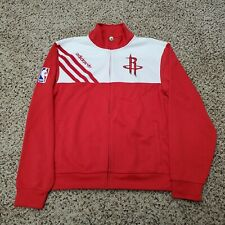 Adidas NBA Houston Rockets Track Top Full Zip Jacket Warm Up Size Large