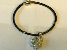 Westie's Head TG26 Made From English Pewter on a Faux Leather Snake Bracelet