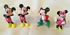 VINTAGE MICKEY MOUSE & MINNIE MOUSE DISNEY FIGURINES X 4