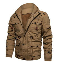 TACVASEN Mens Winter Thermal Fleece Jacket Air Force One Cargo Windbreaker Coats
