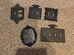 Vtg  Eagle Light Switch Plate Wall Outlet Cover Metal Pick 1 Read Description