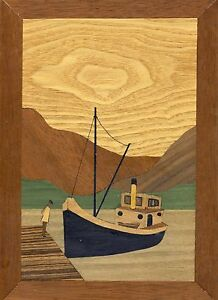 Clyde Puffer: Marquetry Woodwork Craft Kit From UK For Adults & Beginners