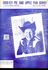 """JIMMY BOYD Sheet Music """"Shoo Fly Pie And Apple Pan Dowdy"""" 1946"""