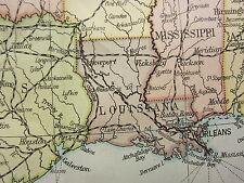 1919 LARGE MAP ~ UNITED STATES & MEXICO FLORIDA TEXAS IOWA POPULATION DENSITY