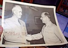 Autographed personalized Photo Gen.Omar Bradley & Gen Henry Balding Lewis WWII