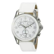 Victorinox Swiss Army Hombre Reloj Chrono Clásico Esfera Blanca Correa De Cuero 241500