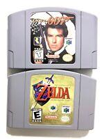 The Legend of Zelda Ocarina of Time & James Bond Goldeneye 007 Nintendo 64 Games