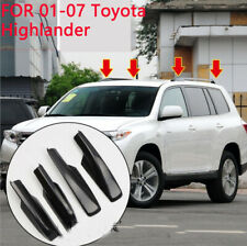 4x Black Roof Rack Cover Rail End Shell Replacement FOR 01-07 Toyota Highlander