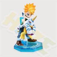 Digimon Adventure Ishida Yamato Gabumon PVC Figure Model 10cm New