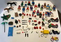 Vintage 1974 Playmobile Lot of Figures People & Accessories Geobra 70s-90s Rare!