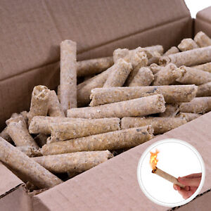 10kg Anzünder Kaminanzünder Holzwolle Grillanzünder Feueranzünder Presslinge NEU