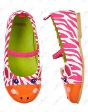 NWT Gymboree COLOR HAPPY PINK AND ORANGE  Zebra ballet shoes baby girls sz 3