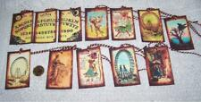 Halloween~Vintage~Fortune Teller~Wicca~Samhain~Linen Cardstok~Gift~Hang~Tags