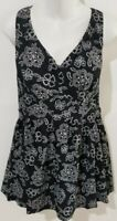 Maxine of Hollywood Empire Swimdress Plus Size One Piece Swimsuit Black Paisley