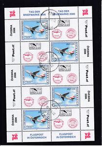 Ö 2006 Tag der Briefmarke Kleinbogen  -  komplette Ausgabe sauber Gestempelt