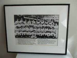 THE BROOKLYN DODGERS OF 1951 AT EBBETS FIELD, BROOKLYN, NEW YORK FRAMED PICTURE