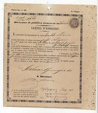 Y980-FERRARA MASSAFISCAGLIA LICENZA VENDITA CAFFE' E LIQUORI 1860