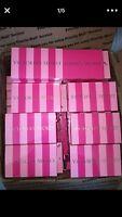 NEW Victoria's Secret set 3  GIFT CARD or MONEY Holders Boxes Pink-Stripe LOGO