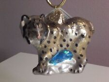 "Old World Christmas ""Lynx"" Glass Ornament"