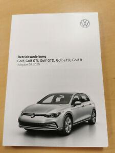 VW GOLF 8 Bedienungsanleitung Betriebsanleitung (Ausgabe 07.2020) *NEU*