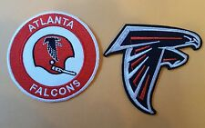 """(2) Atlanta Falcons EMBROIDERED IRON ON PATCH lot   3"""" x 3"""" NFL"""