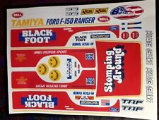 BLACK FOOT RED CUSTOM TAMIYA HPI LOSI 1/10th  PLUS EXTRA DECALS STICKERS