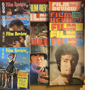 Film Review Magazine. 11 Issues from the 1970's plus 2 issues for the late 60's