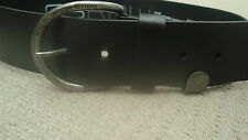 **REDUCED** G-STAR mens raw leather black belt 85 (Medium)
