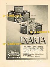 Ihagee Kine & VP Exakta - original press advertising from 1936