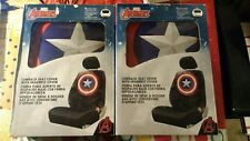 Marvel Avengers Captain America Lowback Seat Cover with Headrest Cover (2pack)